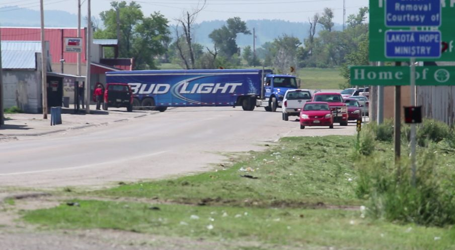 Whiteclay Nebraska is the stage of a fight over liquor distribution
