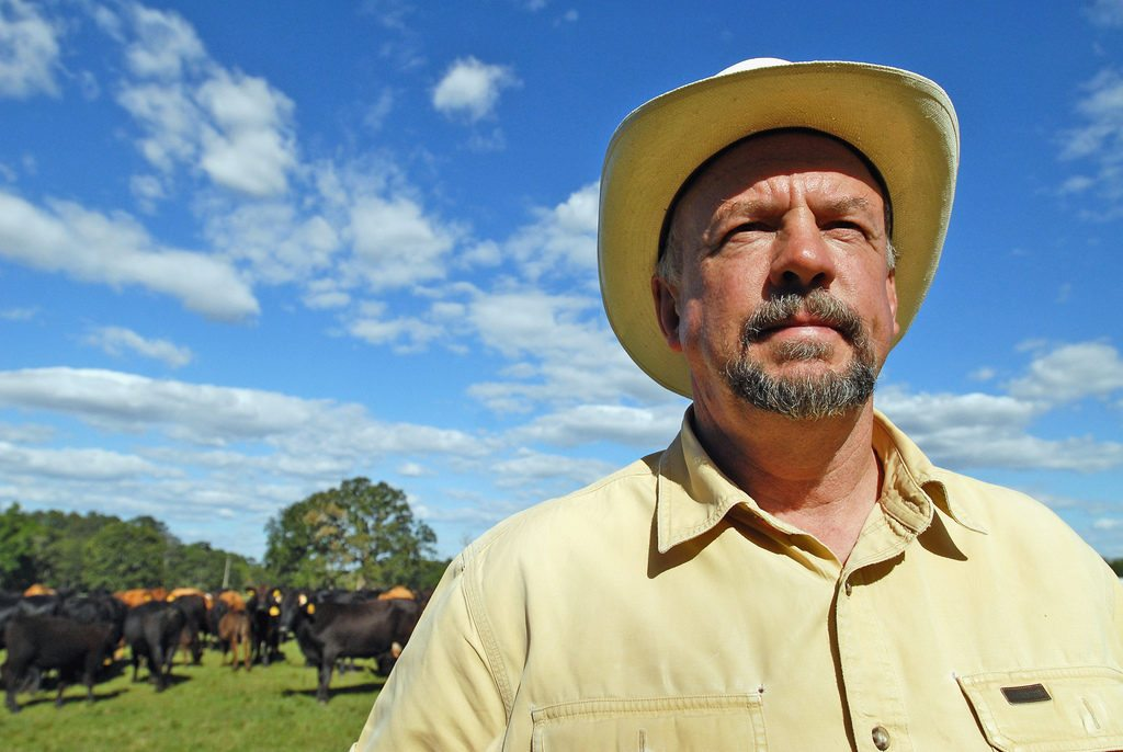 Will Harris is the owner of White Oak Pastures in Bluffton, Georgia, where he raises grass-fed cattle.