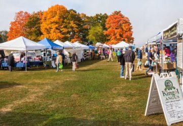 A farmers' market in Bangor, Maine