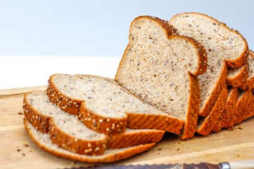 sliced whole grain bread