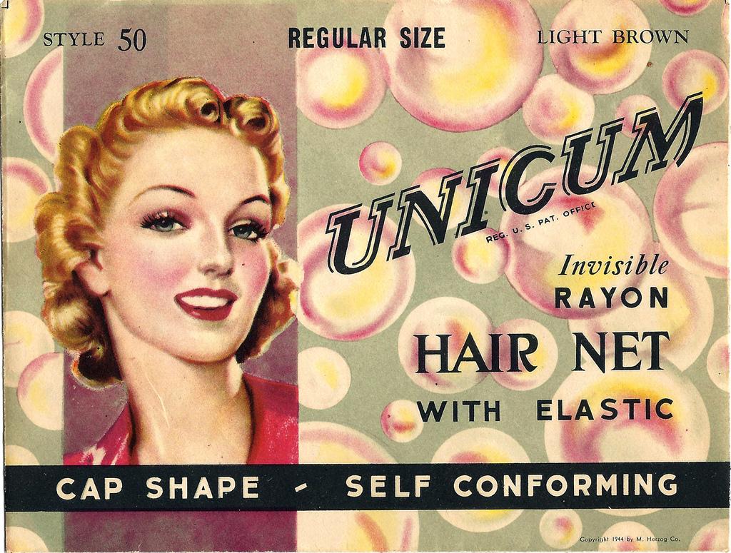 vintage hairnet ad