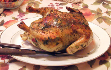 roasted chicken on a platter