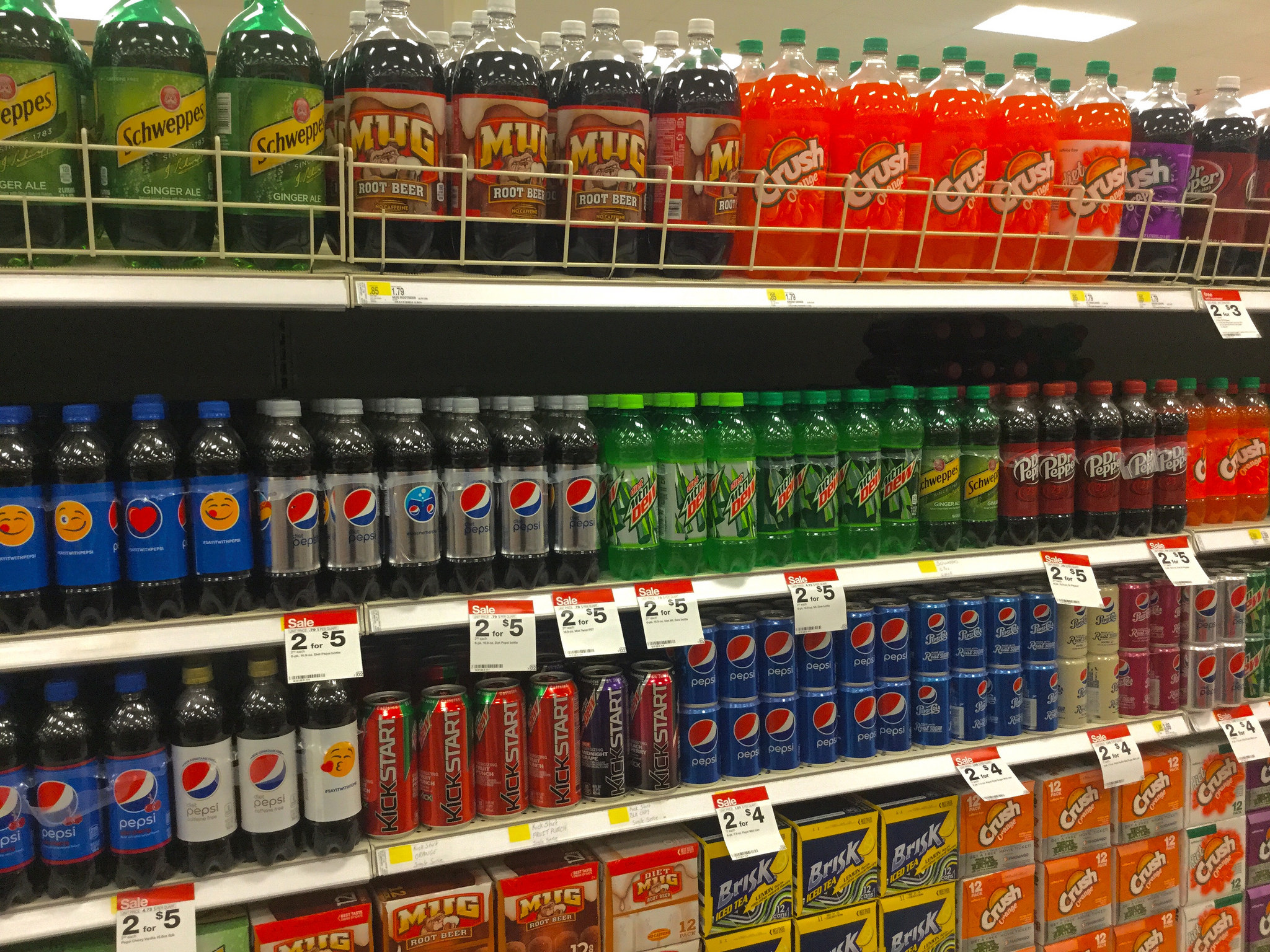 soda at the grocery store