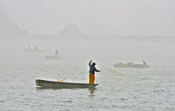After decades of protest and litigation, Native American tribes, like the Yurok tribe of the Klamath River are regaining their fishing rights. Credit: Linda Tanner, September 2018