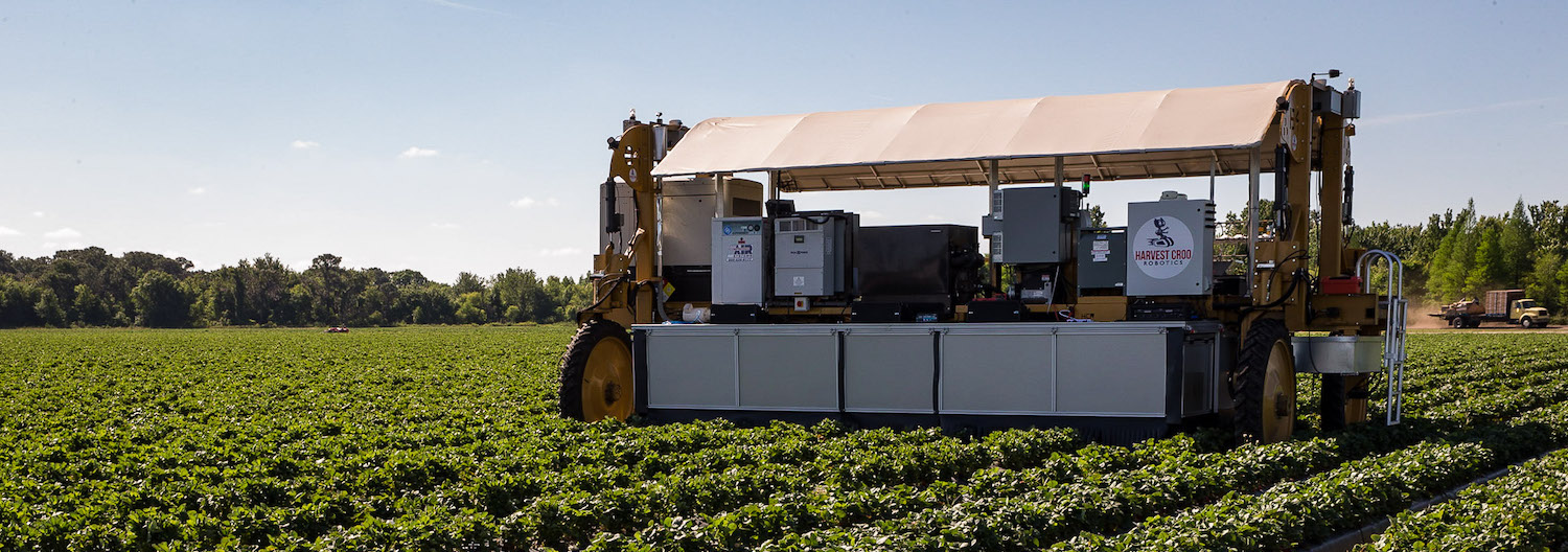 Meet the AI-enabled strawberry picker that could replace thousands of farmworkers. Credit: Harvest CROO, January 2019