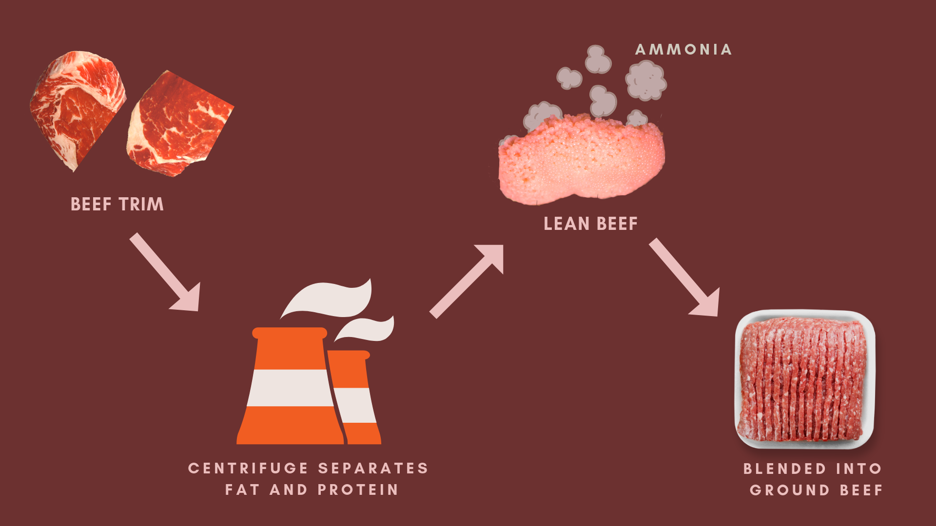 How Beef Products Inc.'s lean finely textured beef product gets made into ground beef