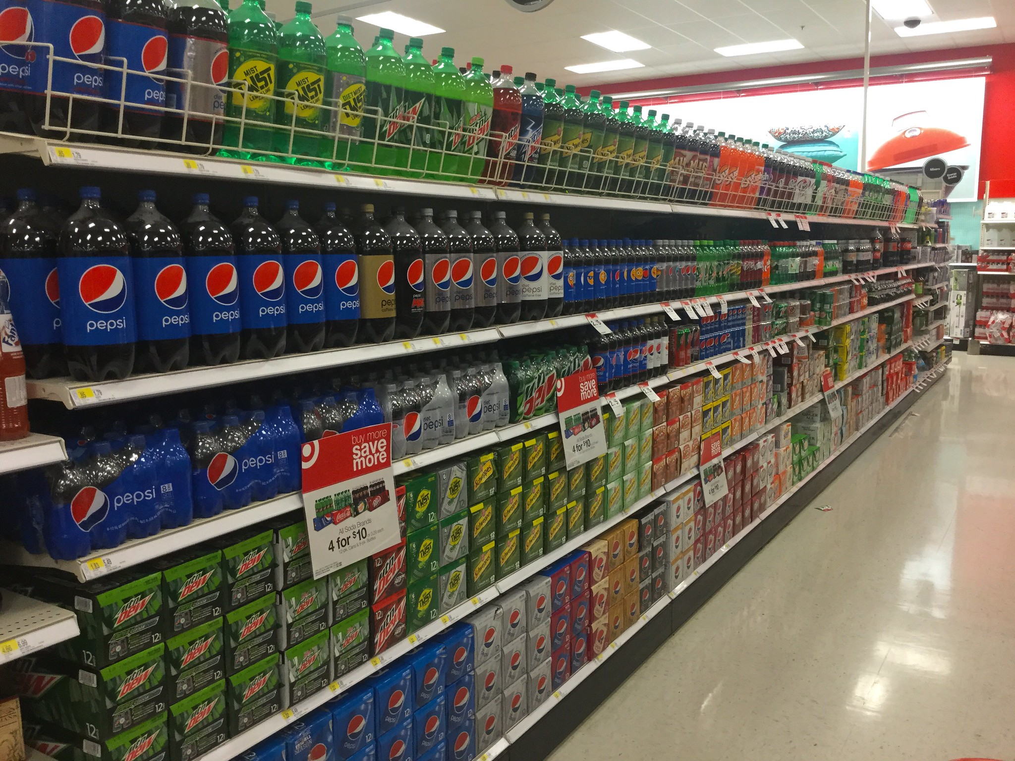 Soda aisle in a Target.
