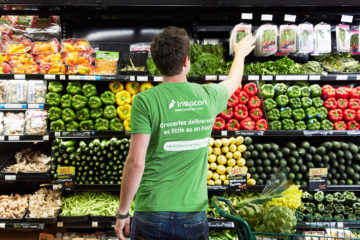 Instacart shopper with produce