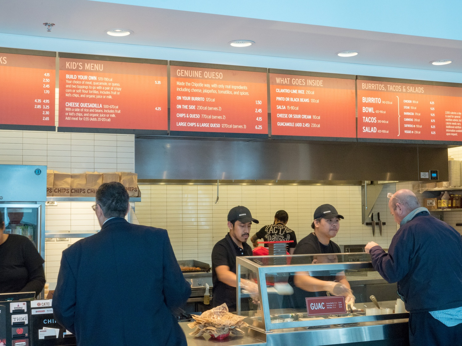 customers order chipotle
