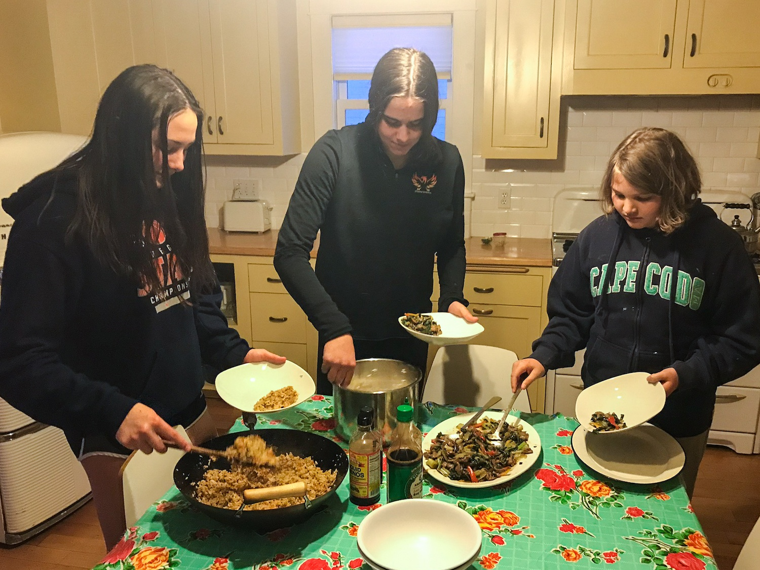 Curry family dinner during pandemic April 2020