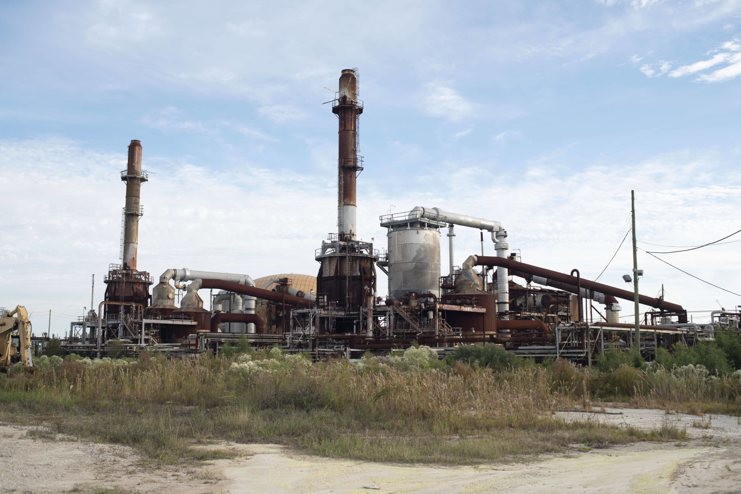 Abandoned Mississippi Phosphates Corporation Plant. (April 2020)