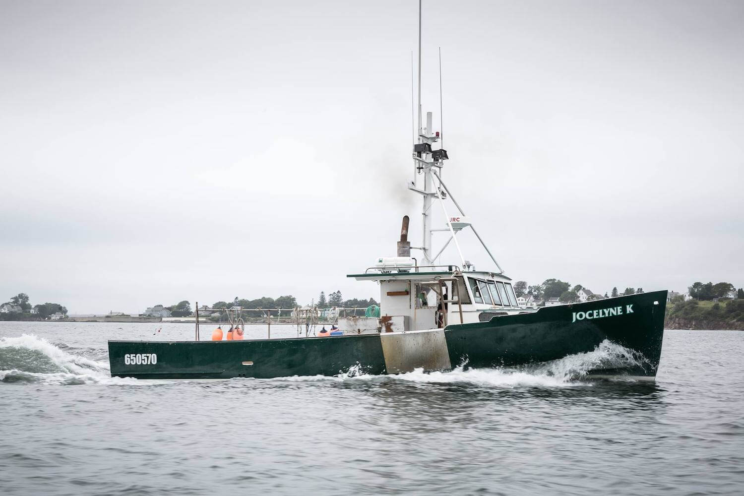 Herman Coombs's fishing boat named