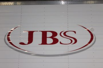 The JBS meatpacker logo. September 2020