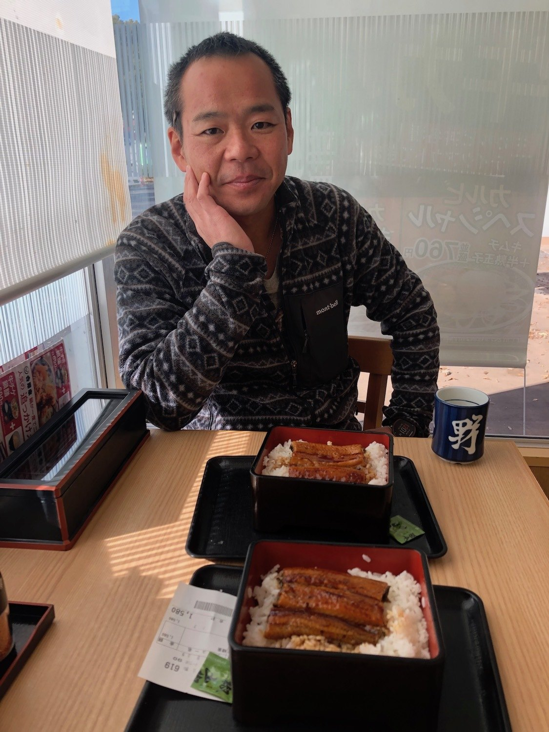 Yoshinaga often collects unagi samples from local grocery stores and restaurants. Sometimes he brings leftovers back to his lab, where they are enjoyed by students. March 2021