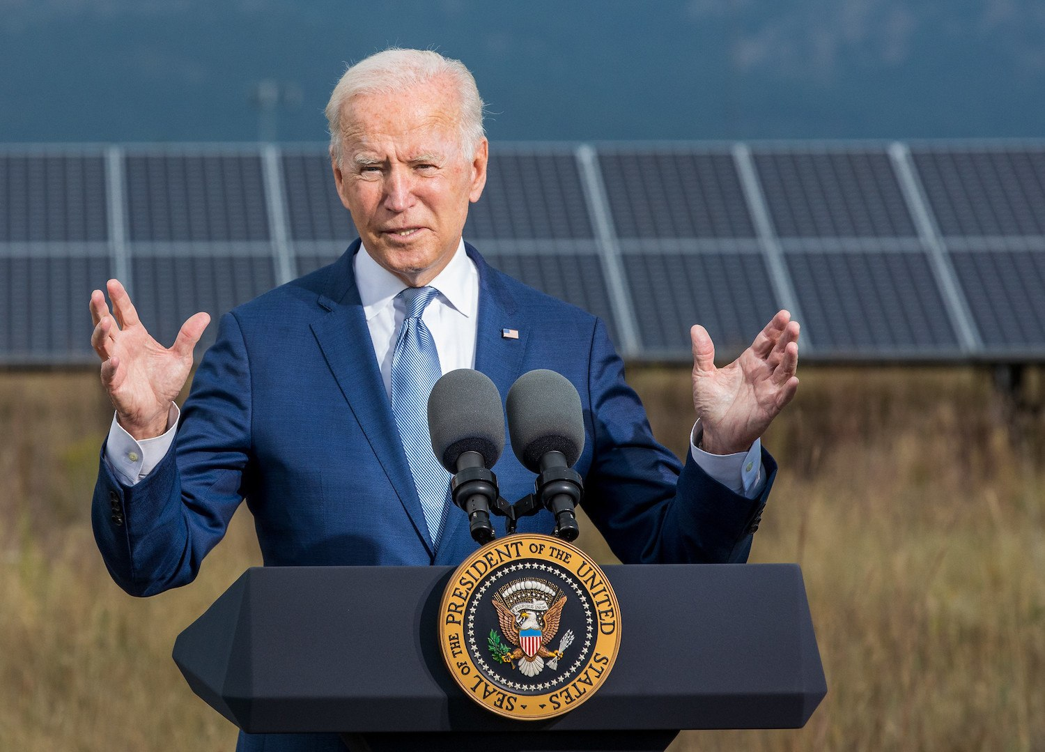 September 14, 2021 - Joe Biden, President of the United States, speaks during a visit the Flatirons Campus of the National Renewable Energy Laboratory in Arvada, Colorado.